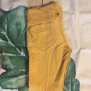 Prana Women's Yellow Corduroy Pants
